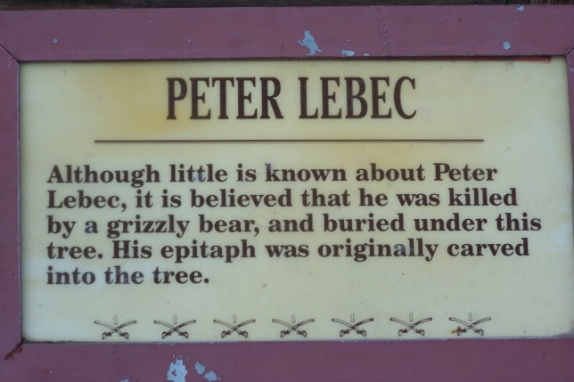 Peter Lebec epitaph