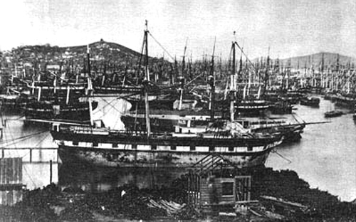 Abandoned ships in San Francisco (1849)