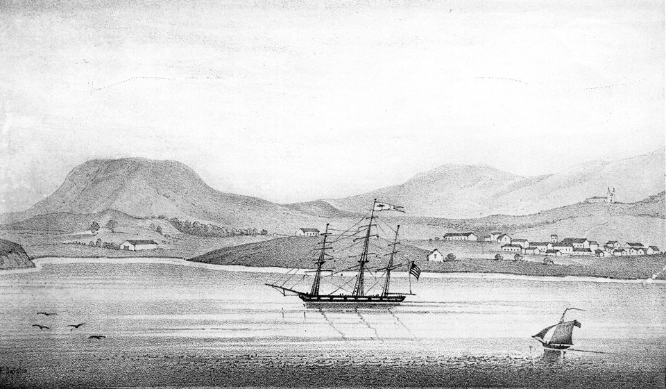 Santa Barbara in January 1835