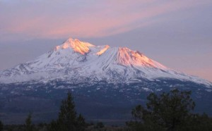 Mount Shasta at sunset