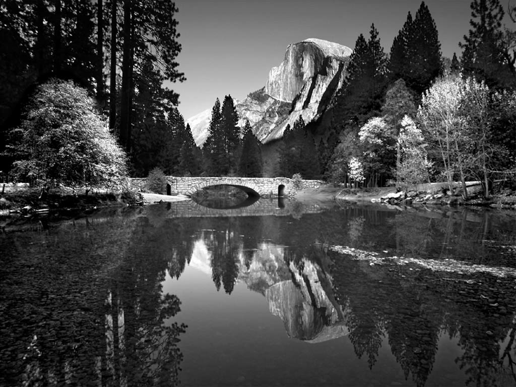 Yosemite Valley Bridge by Ansel Adams