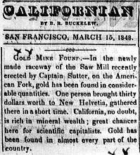 The Californian (1848).