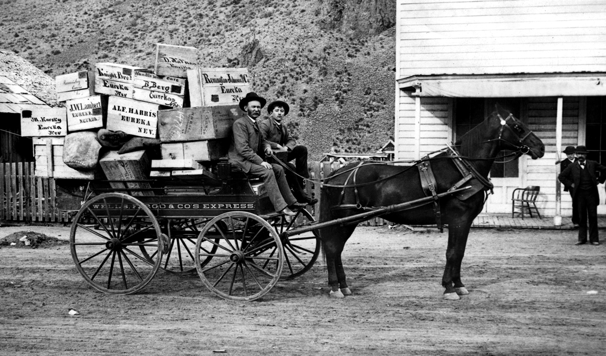 Wells Fargo express wagon.