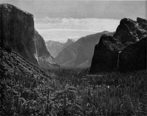 Distant Storm Front, Yosemite Valley, California. By Ansel Adams.