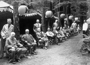 Bohemian Club members at Bohemian Grove.