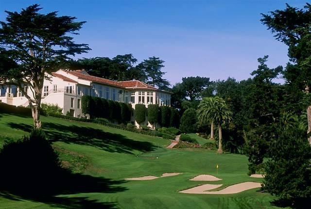 The Olympic Club from the 18th fairway.