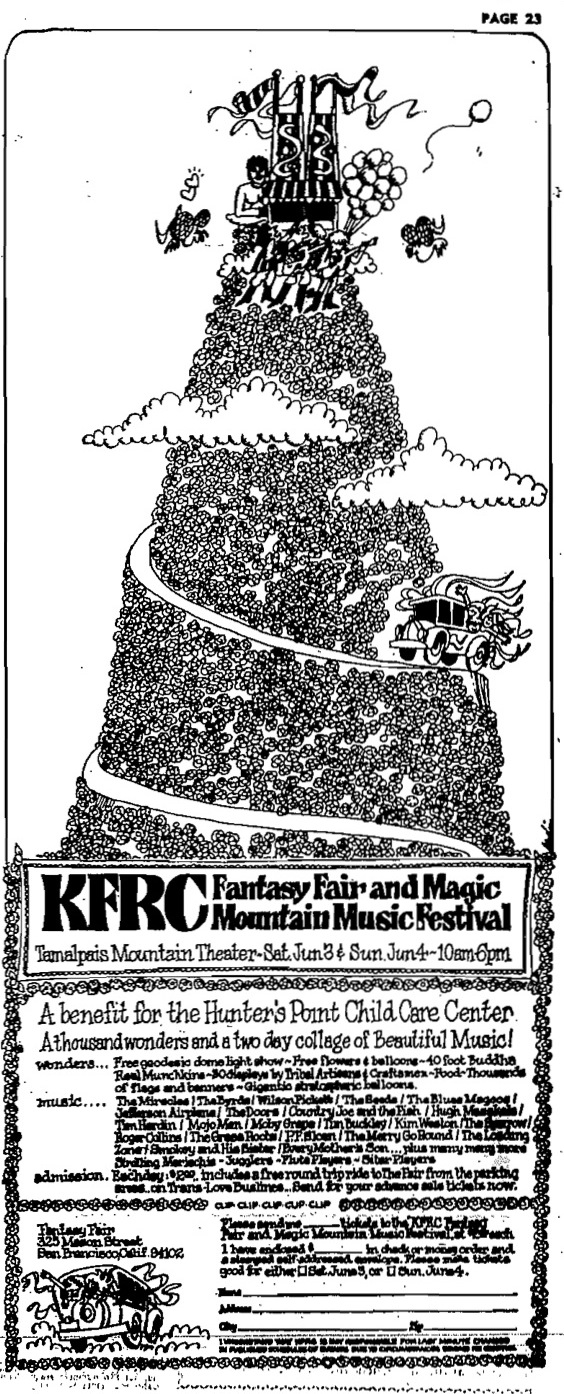 KFRC Fantasy Fair and Magic Mountain Music Festival (1967).