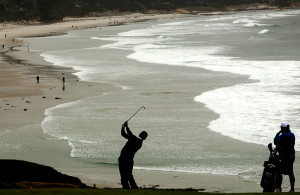 Graeme McDowell at the 110th U.S. Golf Open at Pebble Beach (2010).
