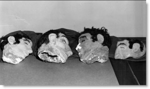 Masks from the Alcatraz escape (1962).