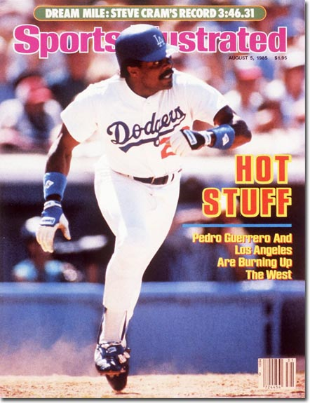 Pedro Guerrero on the cover of Sports Illustrated (1985).