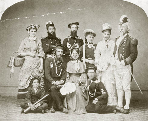 Cast of H.M.S. Pinafore that performed in San Diego's Horton Hall (Oct. 6, 1879).