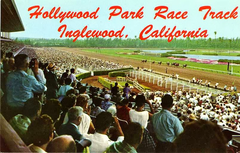 Hollywood Park Race Track postcard.
