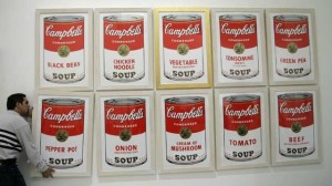 Soup Cans by Andy-Warhol (1962).