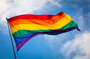 Pride Rainbow Flag.