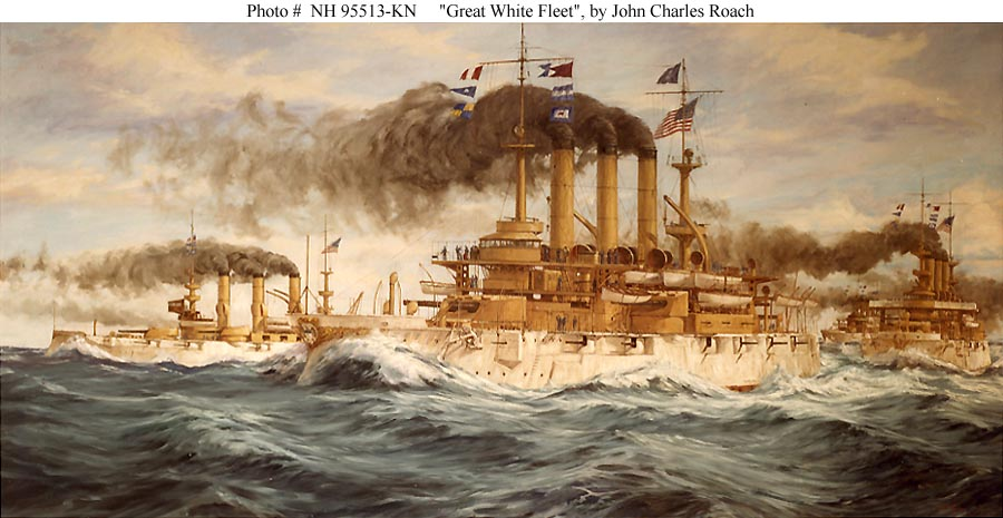 Great White Fleet. Painting by John Charles Roach (1984). Courtesy of the U.S. Navy Art Collection, Washington, D.C.