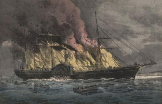 SS Golden Gate burned and sank off the coast of Mexico (1862).