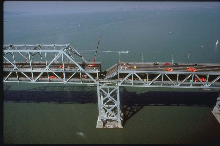 San Francisco - Oakland Bay Bridge collapse (1989).