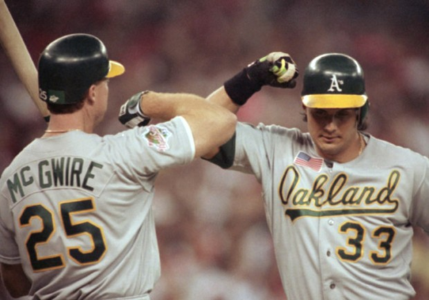 Mark McGwire and José Canseco (1990).