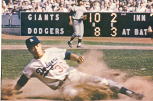 Maury Wills 104th stolen base (1962).