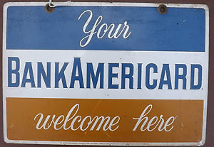 BankAmericacard sign.