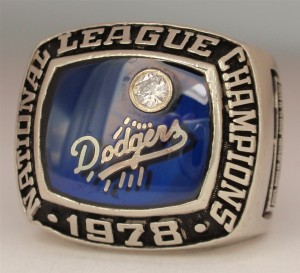 Los Angeles Dodgers National League Championship ring (1978). this week in california history