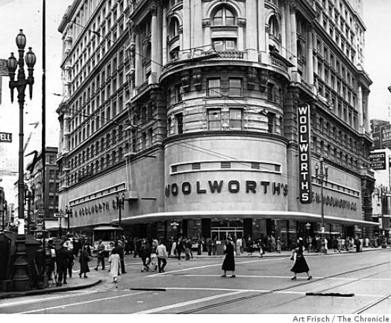 Woolworth's in San Francisco. Photograph by Art Frisch for the Chronicle.