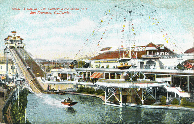 The Chutes postcard, San Francisco.