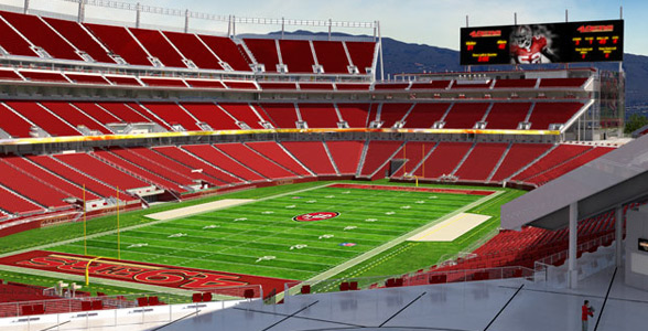 Levi's Stadium, Santa Clara home of the San Francisco 49ers.
