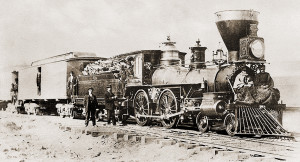 Central Pacific Railroad locomotive Falcon (1869).