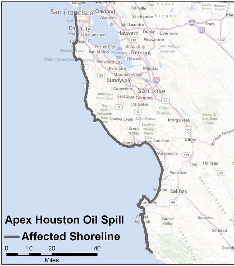 Apex Houston oil spill (1986).