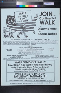 Continental Walk for Peace and Social Justice (1976).
