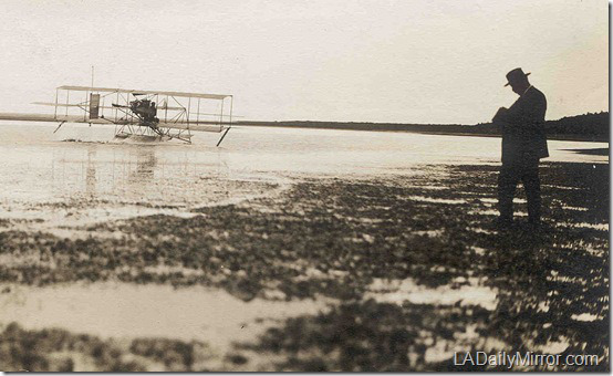he flew the first seaplane from the water in the United States