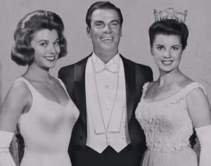 "Bert Parks at ""Miss America"" contest (1958)."