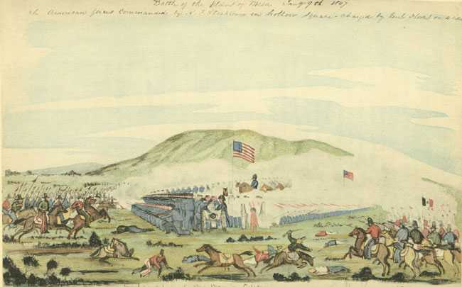 Battle of La Mesa, watercolor by William H. Meyers (1847). From the collection of Franklin D. Roosevelt.