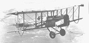 A de Havilland-4B carried 350 pounds of mail.
