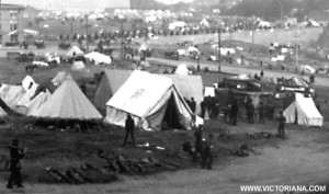 1906 San Francisco Earthquake refugee camp.