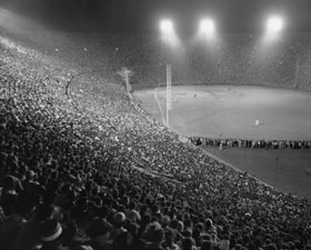 """Roy Campanella Night"" at the Los Angeles Coliseum (1959)."