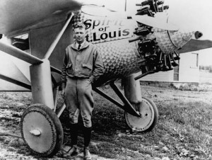 "Charles Lindbergh and ""The Spirit of St. Louis."""
