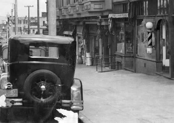 Scene of slaying of Luigi Malvese (1932).