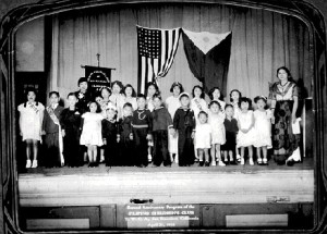 Second anniversary program of the Filipino Children's Club, San Francisco YWCA (1936).