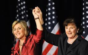 Dianne Feinstein and Barbara Boxer.