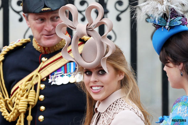 Princess Beatrice's royal wedding hat.