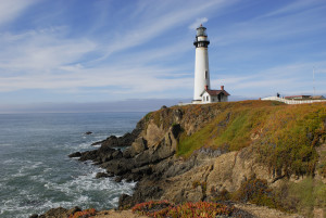 Pigeon Point lighthouse.
