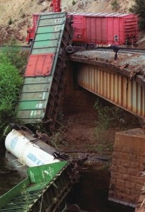 Southern Pacific accident near Dunsmuir (1991).