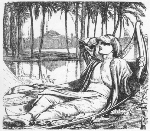 Engraving for The Arabian Nights by W. Holman Hunt (1857).